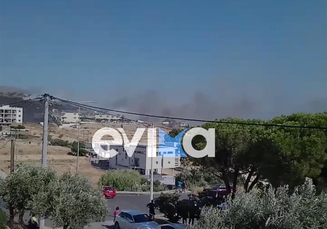 Εύβοια - Κάρυστος - πυρκαγιά