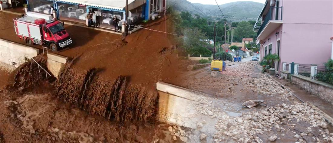 """Κακοκαιρία """"Βικτώρια"""": εικόνες καταστροφής από τις ισχυρές καταιγίδες (βίντεο)"""