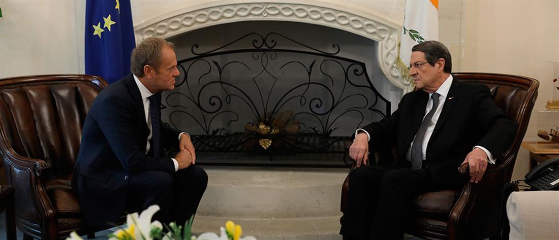 Τουσκ σε Αναστασιάδη: Έχετε την πλήρη αλληλεγγύη της ΕΕ