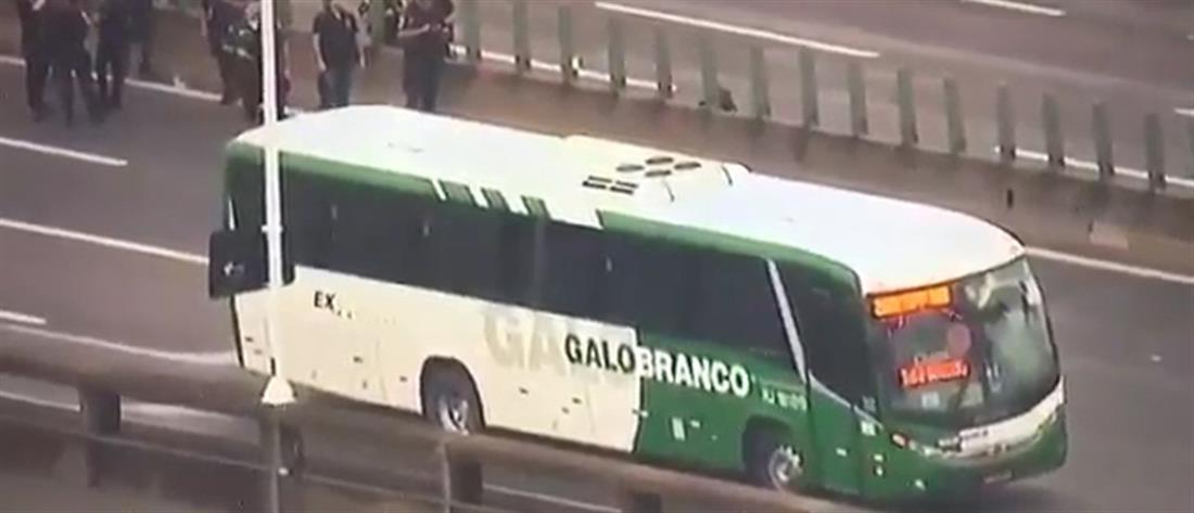 Ομηρία σε λεωφορείο στο Ρίο ντε Τζανέιρο (βίντεο)