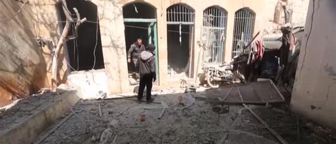 Βομβαρδισμός σχολείου στην Ιντλίμπ (εικόνες)