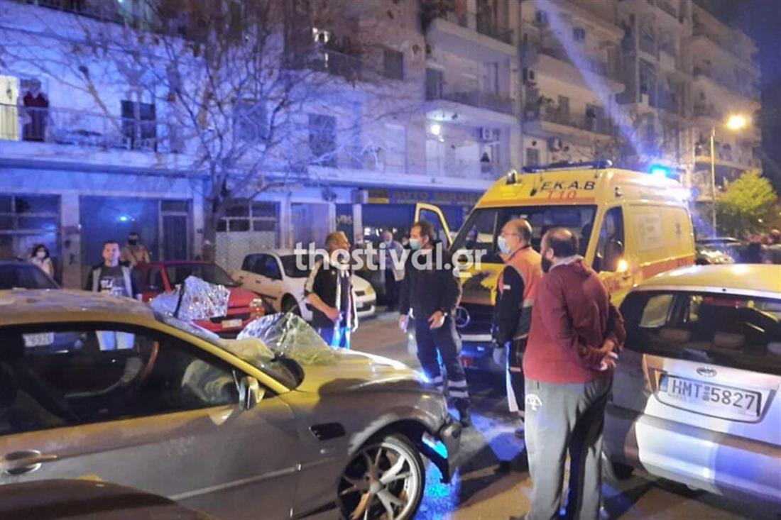 Θεσσαλονίκη - τροχαίο - ανατροπή οχήματος