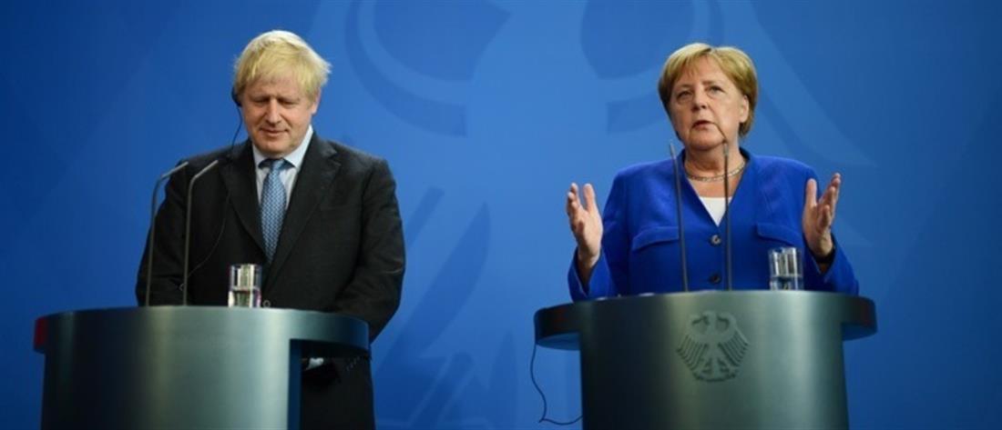 """Μέρκελ – Τζόνσον για Brexit: """"παράθυρο"""" για συμφωνία εντός 30 ημερών"""