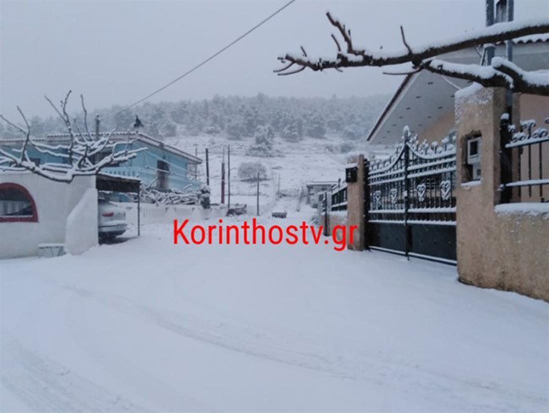 Κόρινθος - χιόνια