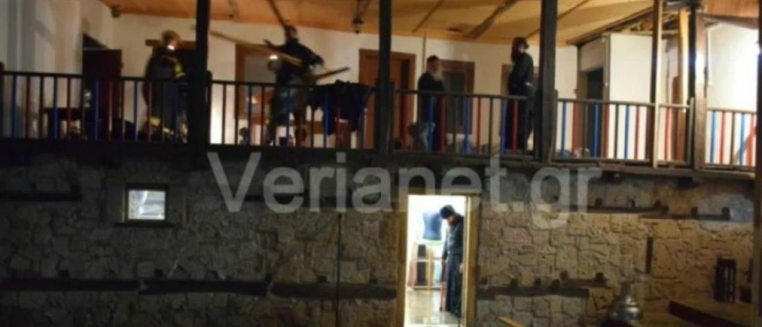 Βράχος έπεσε σε Μοναστήρι -Τραυματίστηκε ένας μοναχός