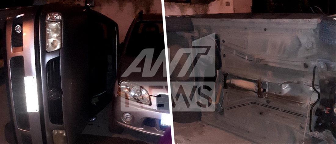 Του τούμπαραν το αυτοκίνητο κι έκλεψαν τον καταλύτη (εικόνες)