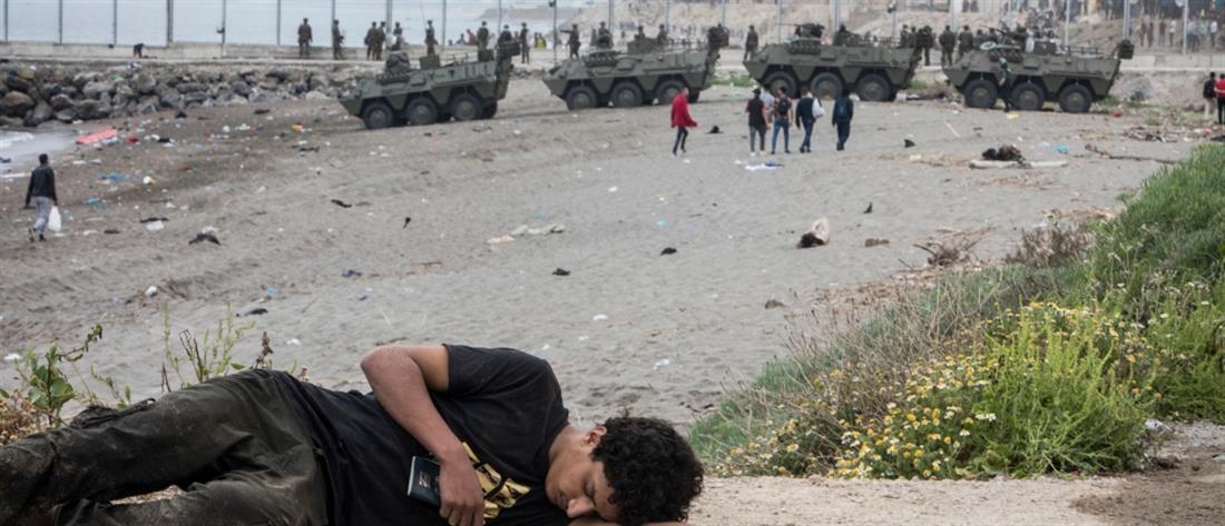Ισπανία: Στρατός για το μεταναστευτικό κύμα από το Μαρόκο (εικόνες)
