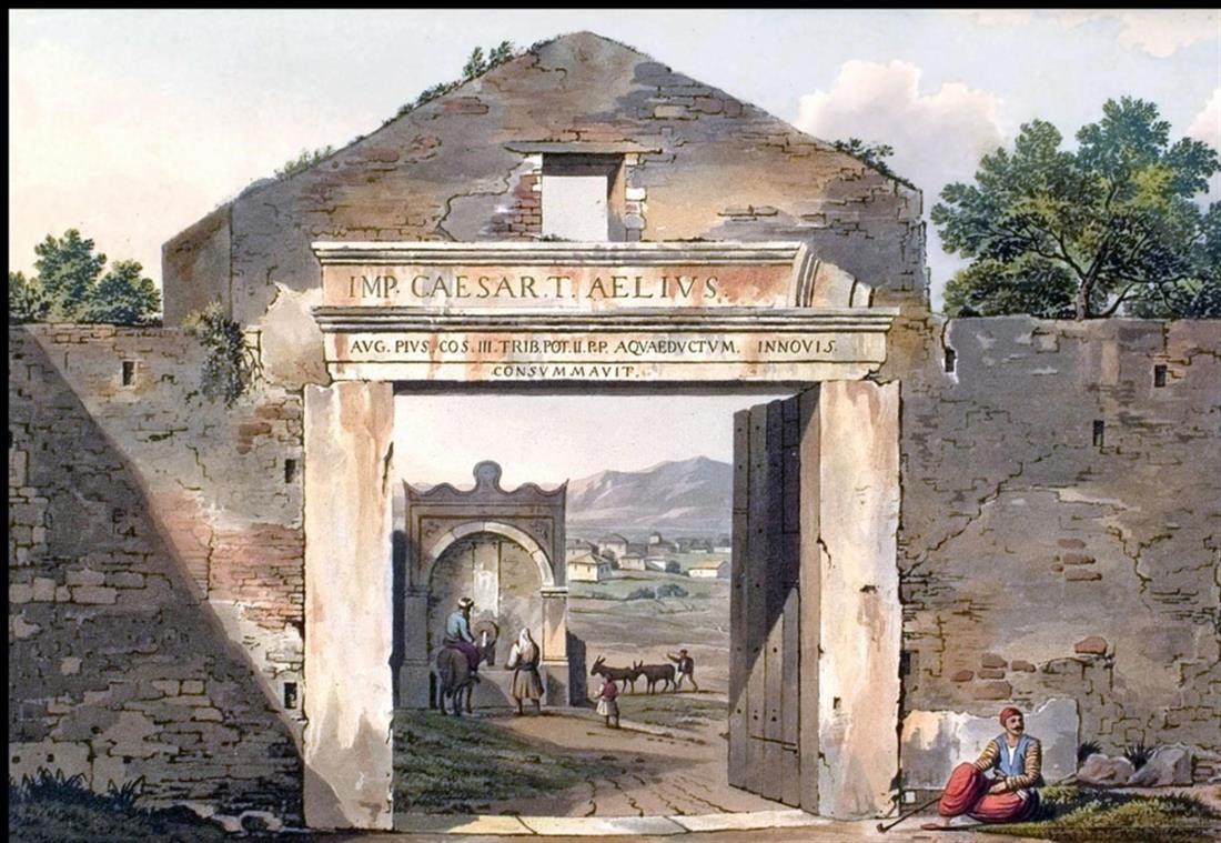 Μεσογείτικη πύλη - κρήνη - Μπουμπουνίστρα - Σύνταγμα - Βουλή