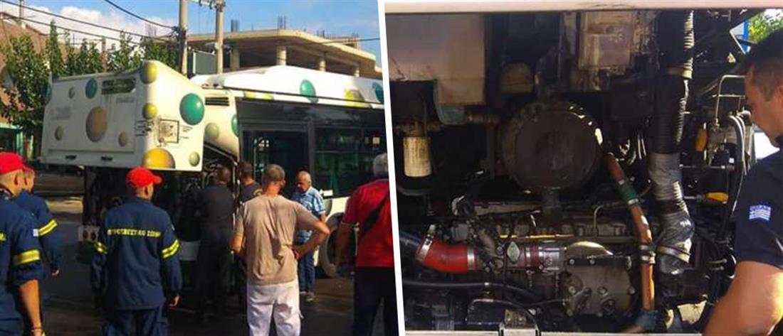 Φωτιά σε αστικό λεωφορείο με φυσικό αέριο (εικόνες)