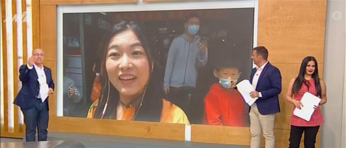 """""""Πρωινοί Τύποι"""": Κινέζα δημοσιογράφος κάνει ανταπόκριση στα... ελληνικά! (βίντεο)"""