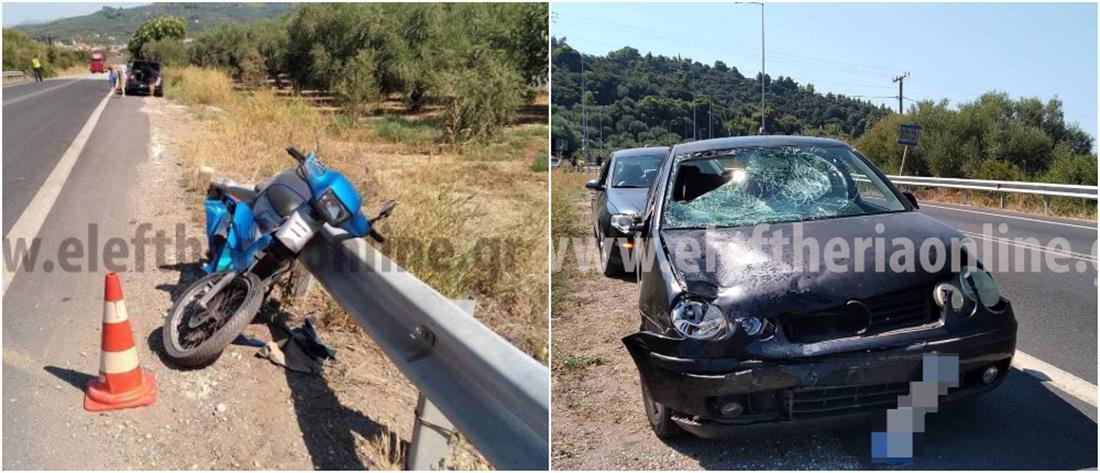 Νεκρός σε τροχαίο οδηγός μηχανής στην Ελαία (εικόνες)