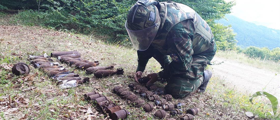 Εξουδετερώθηκαν δεκάδες νάρκες και χειροβομβίδες (εικόνες)