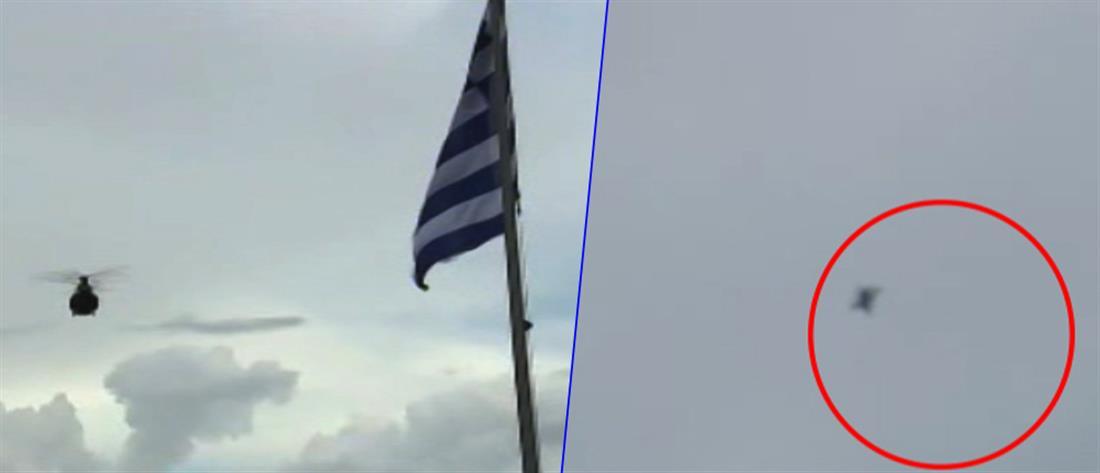 Αναχαίτιση τουρκικού μαχητικού από F16 την ώρα που φθάνει στο Καστελόριζο ο Καμμένος (βίντεο)
