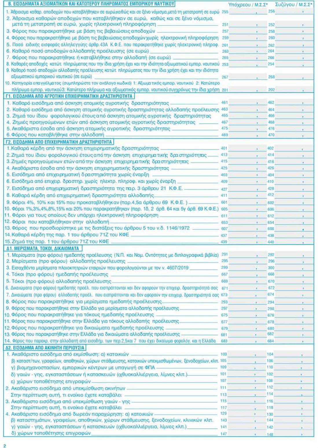 Φορολογικές δηλώσεις 2021 - Ε1 - σελ2