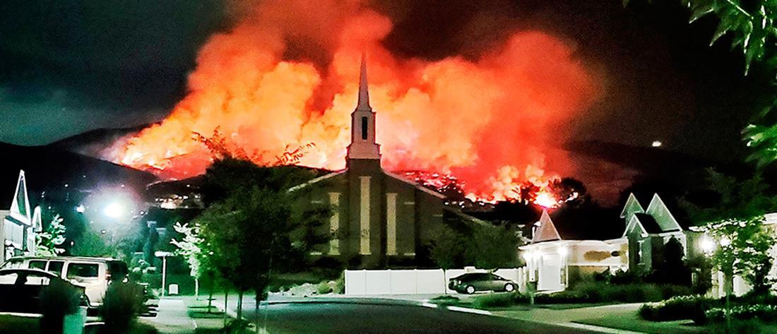 Μεγάλη φωτιά από πυροτεχνήματα στη Γιούτα (βίντεο)