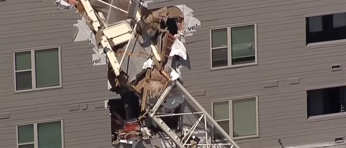 Τραγωδία! Γερανός κατέρρευσε πάνω σε πολυκατοικία (εικόνες)