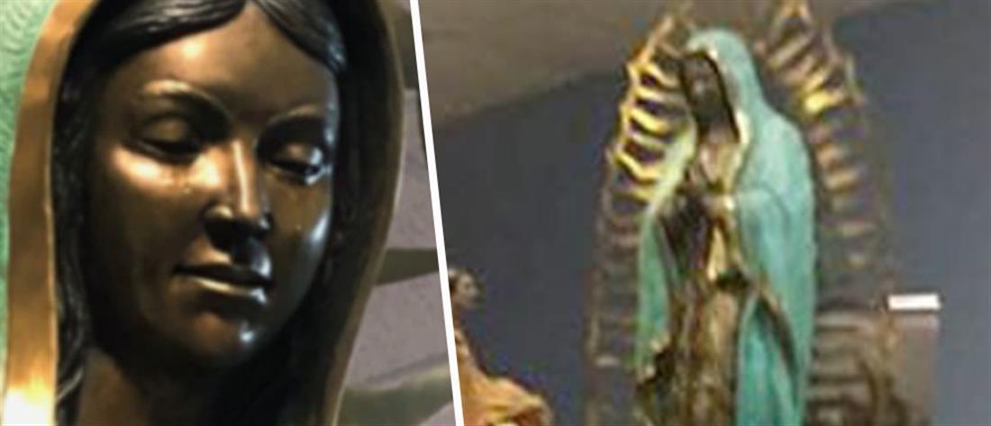 Μαρτυρίες για θαύμα: δάκρυσε άγαλμα της Παναγίας (εικόνες)