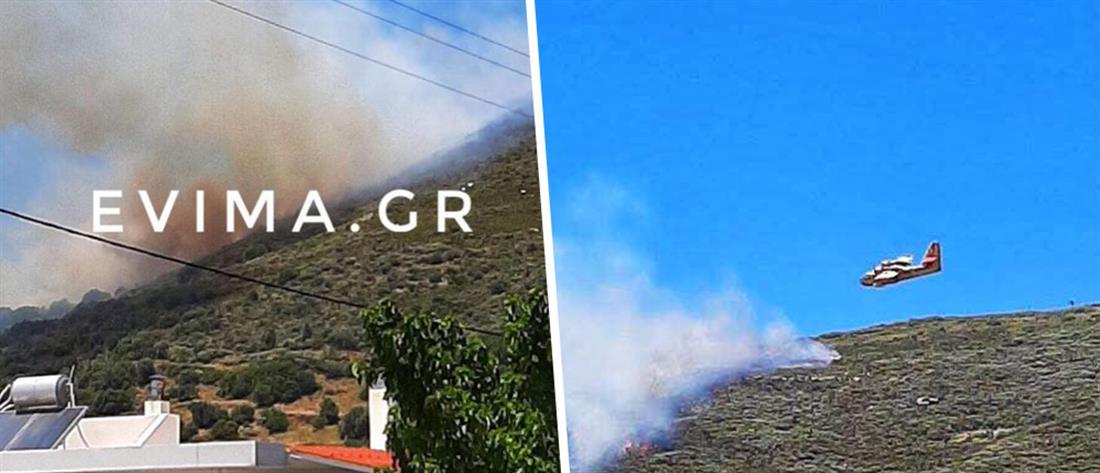 Νέα μεγάλη φωτιά στην Κάρυστο