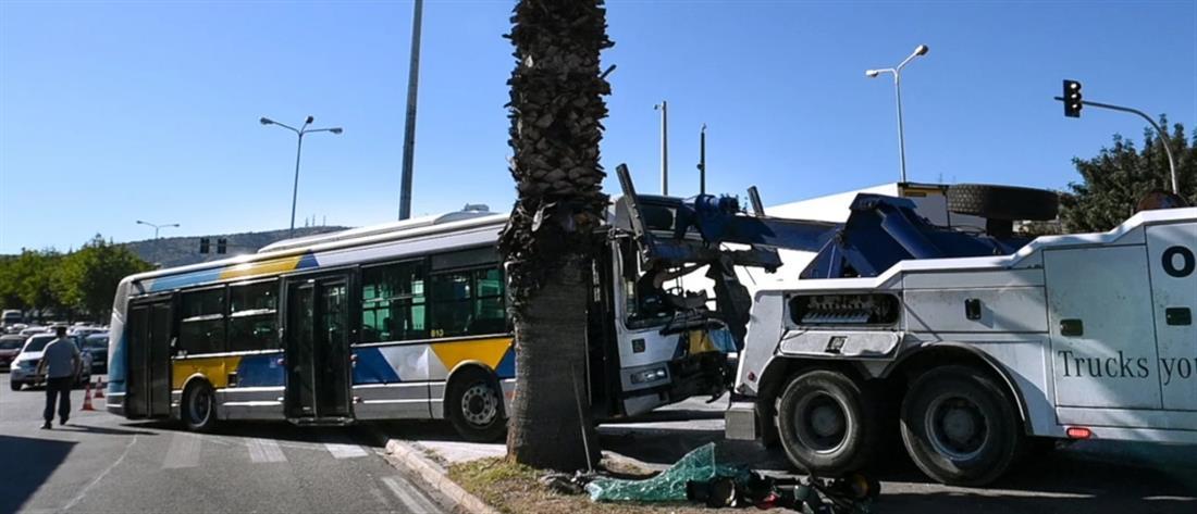 """Τροχαίο στο Χαϊδάρι: """"Τρελό"""" λεωφορείο πέρασε στο αντίθετο ρεύμα (εικόνες)"""