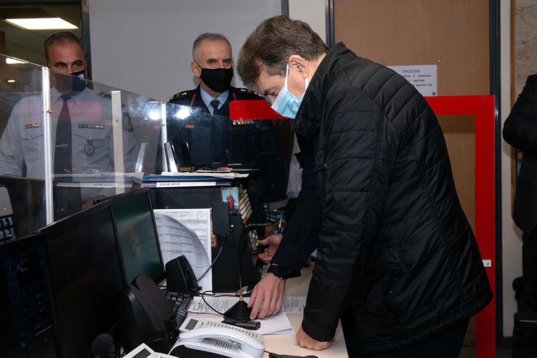 Μιχάλης Χρυσοχοΐδης - Μιχαήλ Καραμαλάκης, - Κέντρο Επιχειρήσεων της Διεύθυνσης Άμεσης Δράσης Αττικής