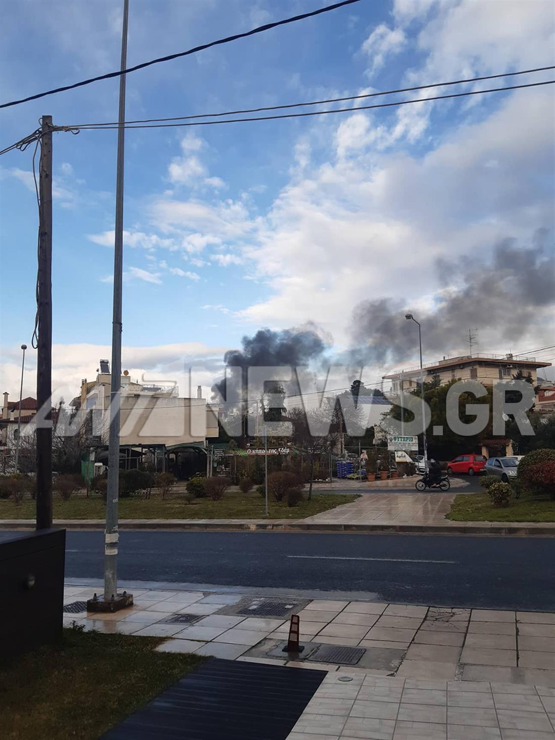 Φωτιά - συνεργείο αυτοκινήτων - Γέρακας