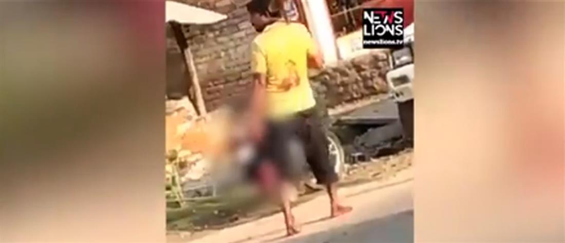 Βίντεο-σοκ: Αποκεφάλισε τη γυναίκα του και πήγε το κεφάλι στην αστυνομία