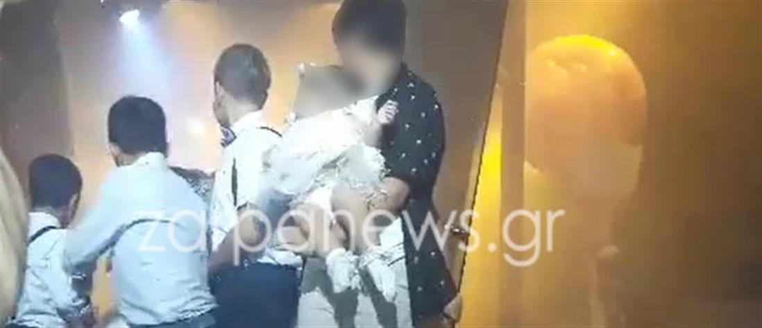 Απίστευτο ατύχημα σε γαμήλιο γλέντι στα Χανιά (βίντεο)