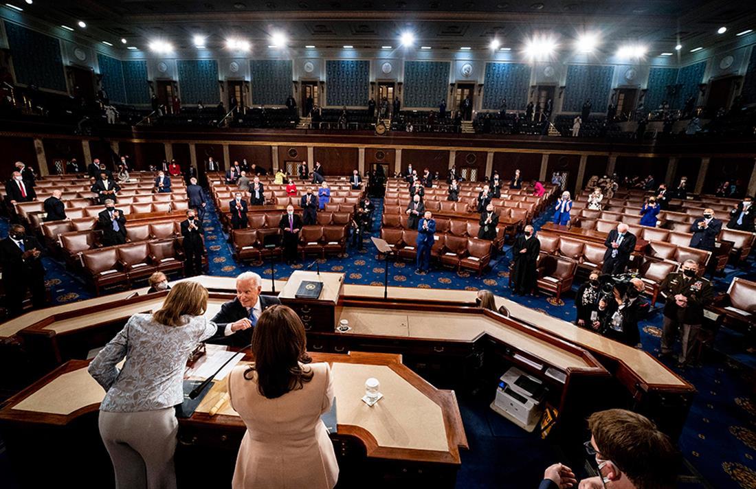 AP - Τζο Μπάιντεν - Κογκρέσο - πρώτη ομιλία