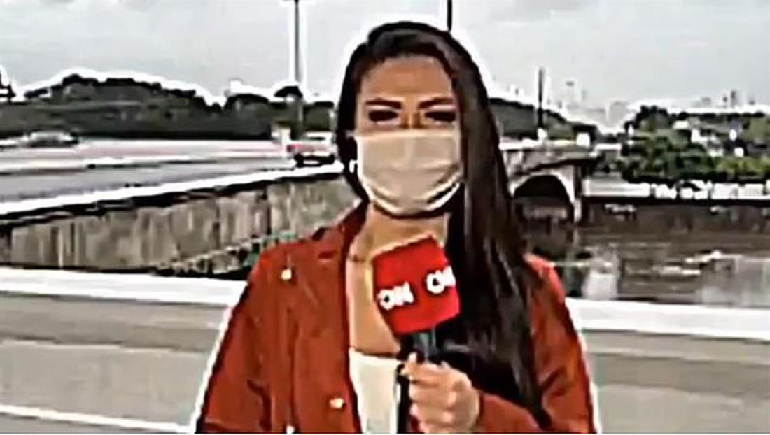 Ληστεία - δημοσιογράφος - ζωντανή τηλεοπτική σύνδεση - Βραζιλία