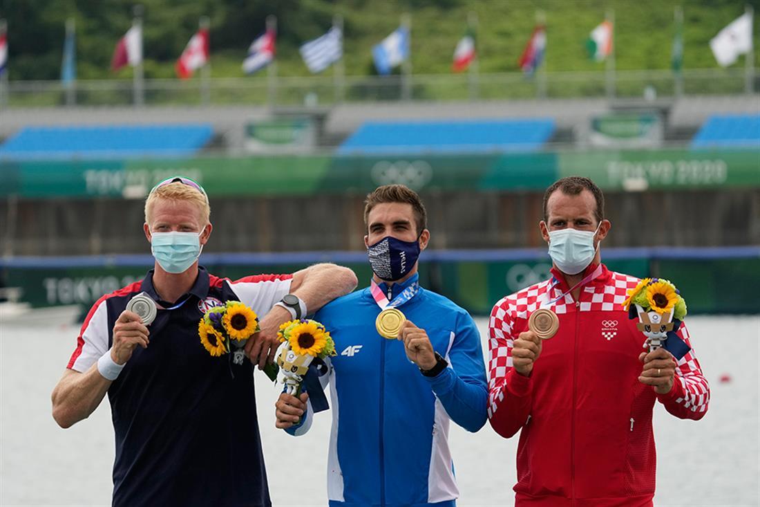 AP - Στέφανος Ντούσκος - Χρυσό μετάλλιο - Ολυμπιακοί Αγώνες - Τόκιο 2020
