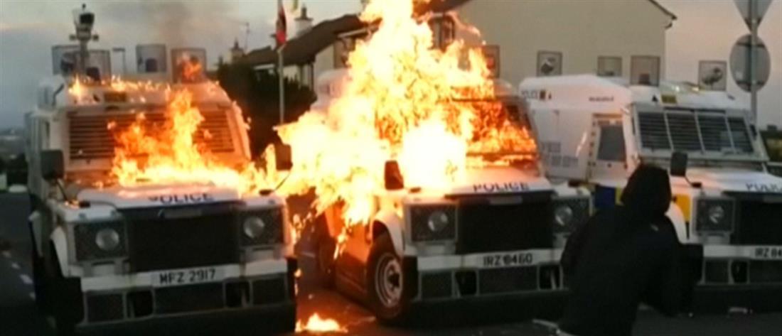 """Βίντεο: """"Βροχή"""" μολότοφ σε αστυνομικό τμήμα"""
