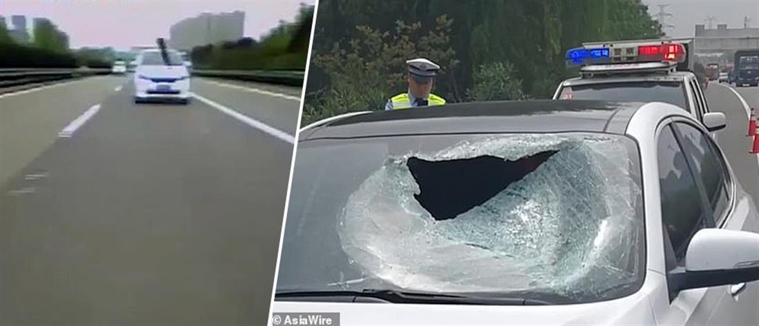 Μέταλλο εκσφενδονίστηκε από όχημα και σκότωσε οδηγό! (βίντεο)