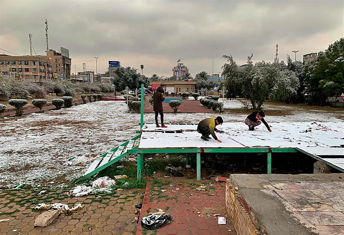 AP - Ιράκ - Βαγδάτη - χιόνια