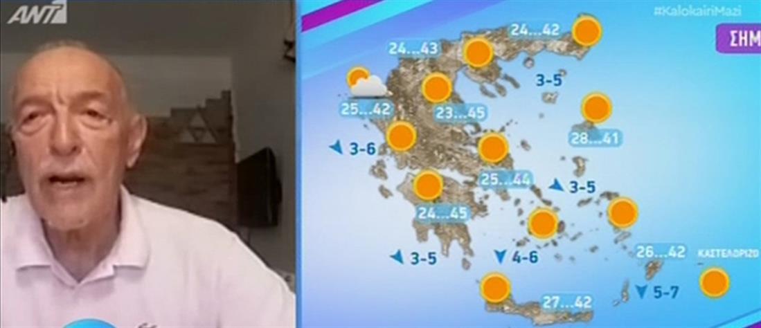 Καύσωνας – Αρνιακός: κορυφώνονται οι ακραίες θερμοκρασίες