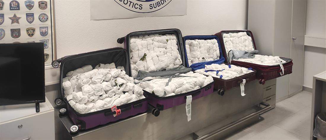 """""""Ελ. Βενιζέλος"""": 18χρονοι μετέφεραν με βαλίτσες 100 κιλά του σπάνιου ναρκωτικού """"Khat"""" (εικόνες)"""