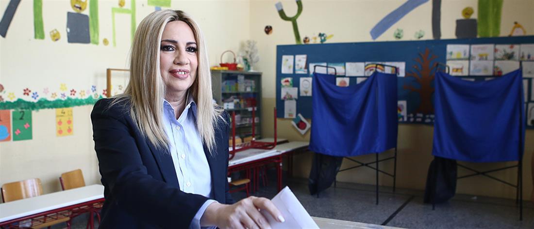 Εκλογές 2019: Με μήνυμα προς τον Βενιζέλο η ψήφος της Φώφης Γεννηματά