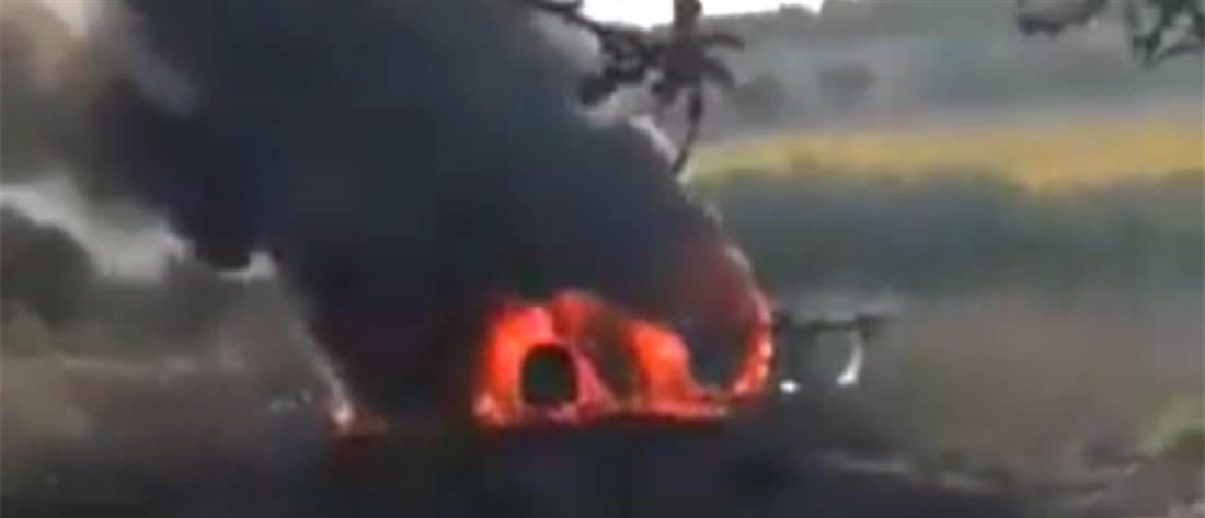 Αγρότης κάηκε ζωντανός (Σκληρές εικόνες)