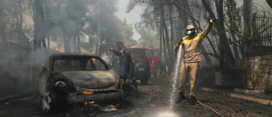 Φωτιά στη Σταμάτα - Χαρδαλιάς: Σε ύφεση τα μέτωπα, προσαγωγές υπόπτων