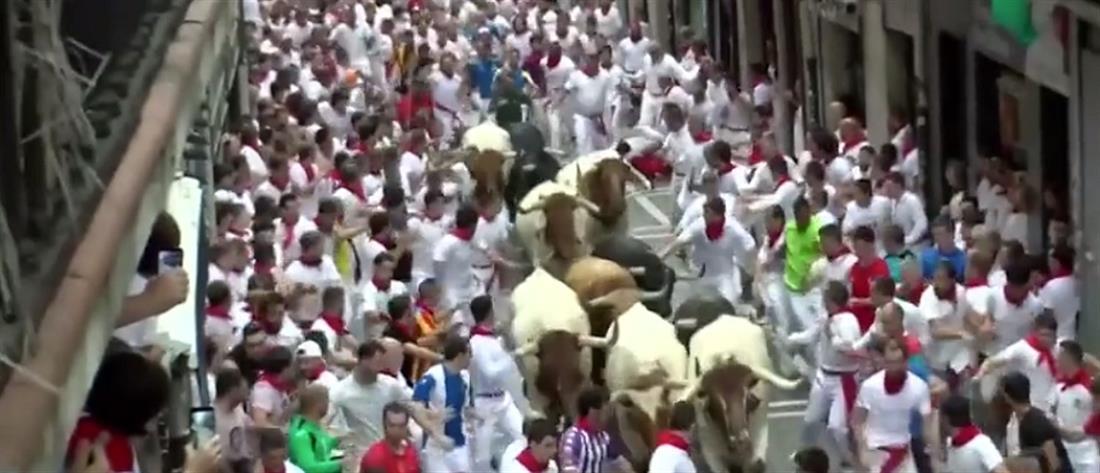 Αυλαία με τραυματισμούς στο φεστιβάλ της Παμπλόνας (βίντεο)