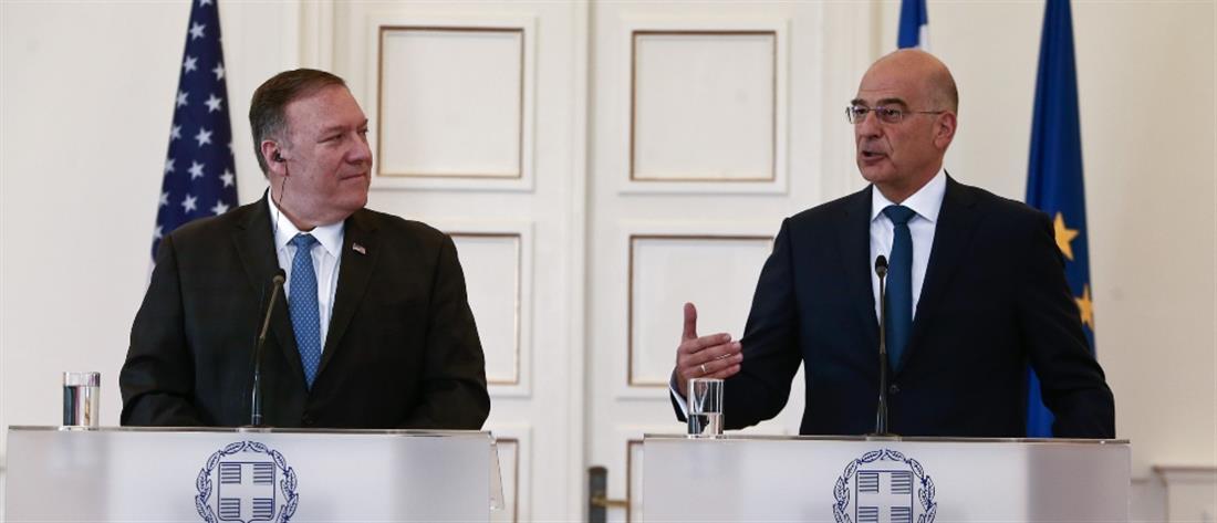 Μάικ Πομπέο - Νίκος Δένδιας - Υπουργείο Εξωτερικών