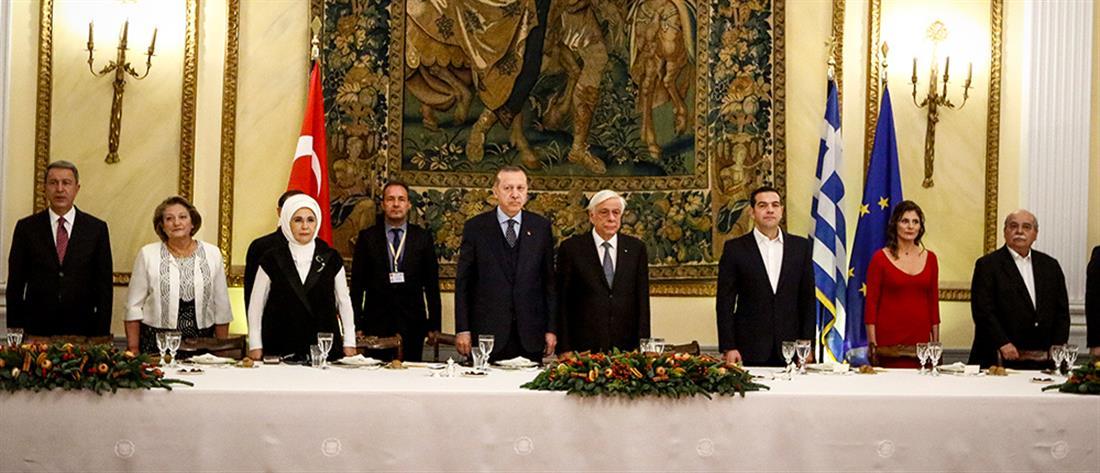 Όλα όσα έγιναν στο δείπνο προς τιμήν του Ερντογάν (φωτό)