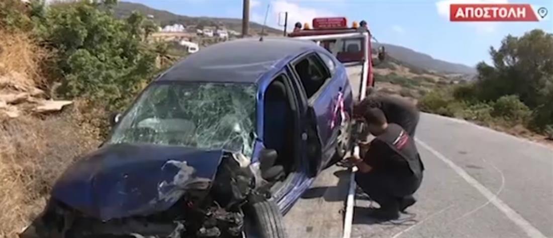 """Τροχαίο στην Άνδρο: """"Μάχη"""" για τη ζωή δίνουν δύο τραυματίες"""
