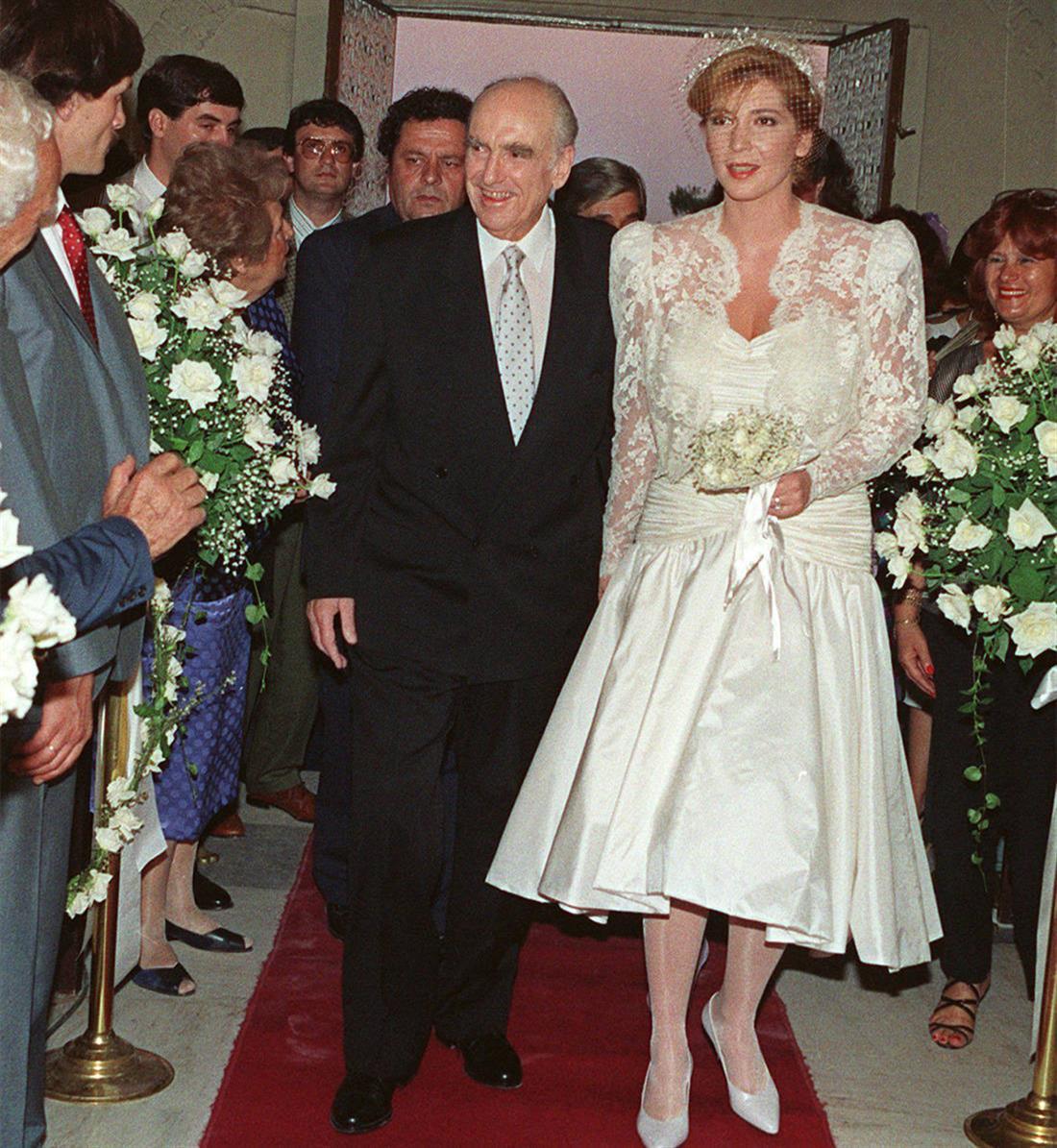 Ανδρέας Παπανδρέου - Δήμητρα Λιάνη -  γάμος - PENDING