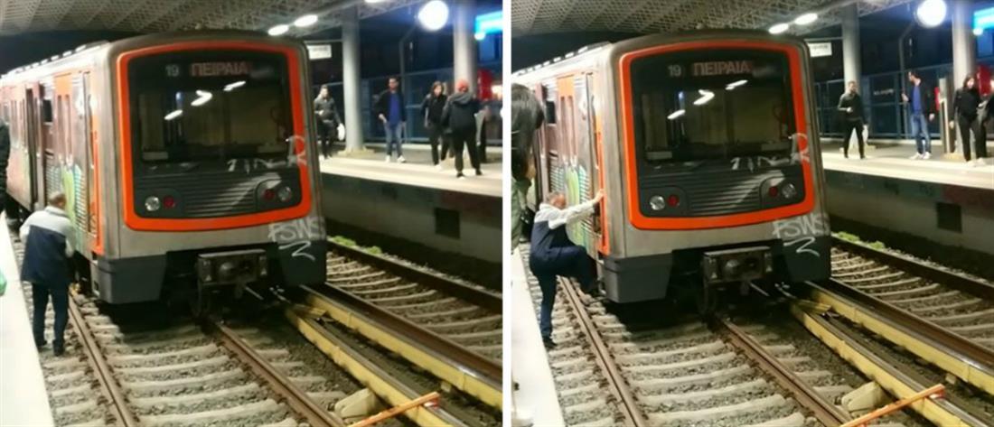 Εκτροχιάστηκε συρμός του ΗΣΑΠ μέσα στον σταθμό του Ν. Ηρακλείου (εικόνες)