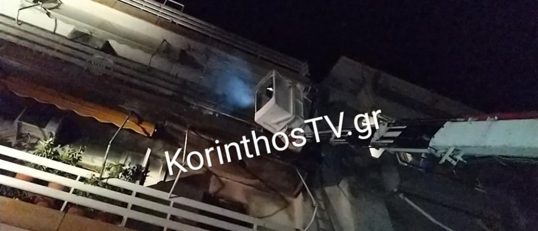 Φωτιά στο Λουτράκι: απεγκλωβισμός δεκάδων ενοίκων (βίντεο)
