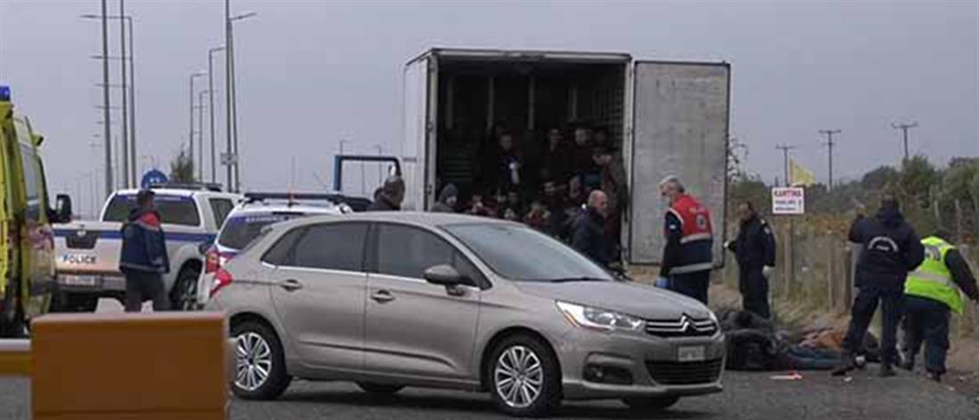 Ξάνθη: Δεκάδες μετανάστες εντοπίστηκαν σε φορτηγό (εικόνες)