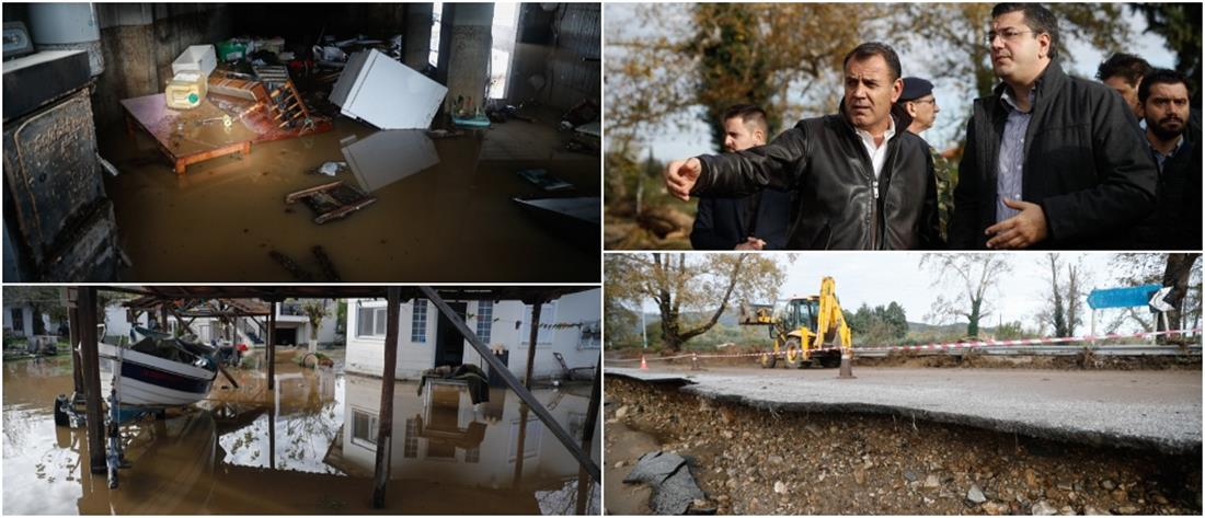 Χαλκιδική: εικόνες χάους αντίκρισε το κυβερνητικό κλιμάκιο (εικόνες)
