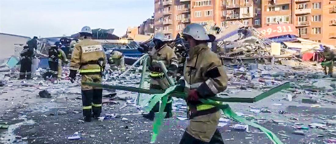 Ρωσία: έκρηξη ισοπέδωσε σούπερ μάρκετ (εικόνες)