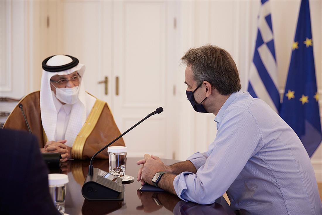 Κυριάκος Μητσοτάκης - Khalid bin Abdulaziz Al-Falih