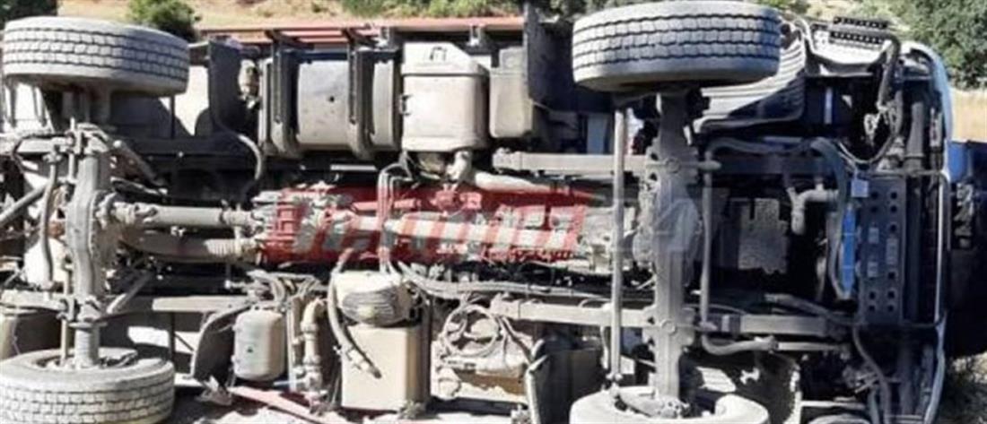 Πυροσβέστες τραυματίστηκαν από ανατροπή πυροσβεστικού οχήματος